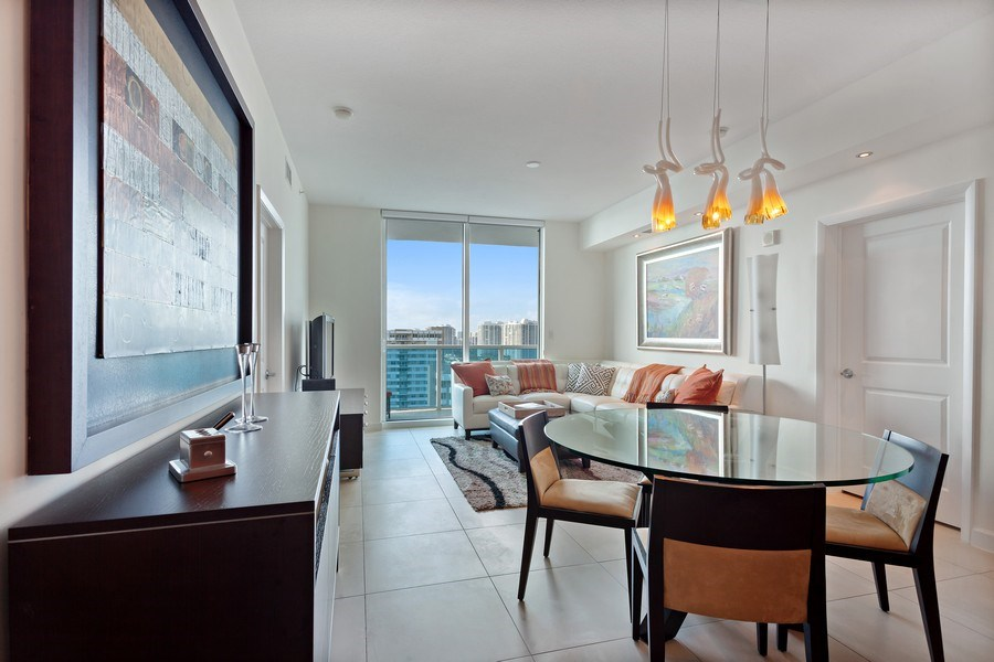 Real Estate Photography - 1945 S Ocean Dr, Unit 2203, Hallandale Beach, FL, 33009 - Dining Room