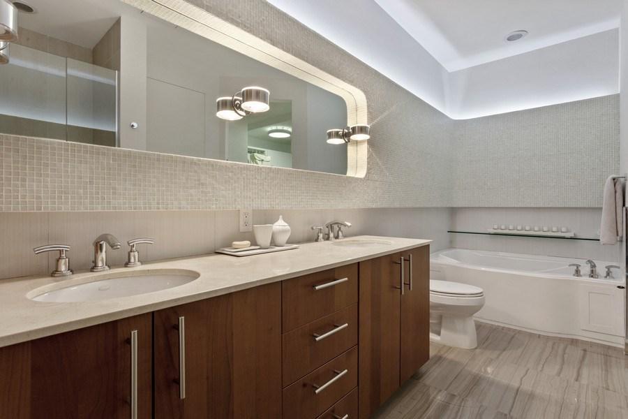 Real Estate Photography - 1945 S Ocean Drive, Unit 2812, Hallandale Beach, FL, 33009 - Master Bathroom