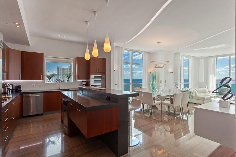 Real Estate Photography - 1945 S Ocean Drive, Unit 2812, Hallandale Beach, FL, 33009 - Kitchen