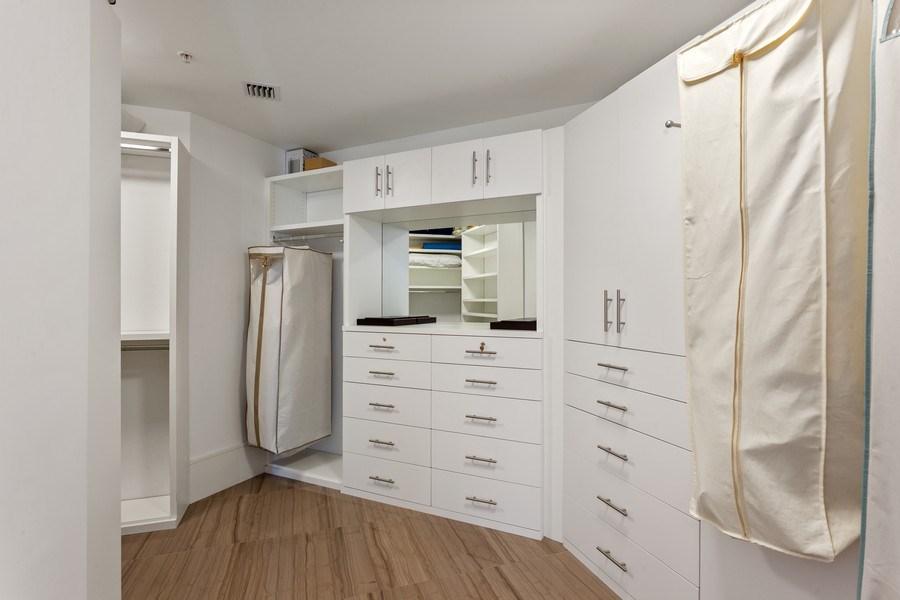 Real Estate Photography - 1945 S Ocean Drive, Unit 2812, Hallandale Beach, FL, 33009 - Master Bedroom Closet