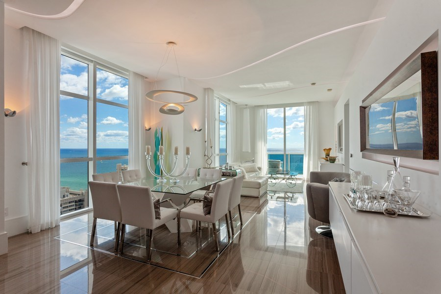 Real Estate Photography - 1945 S Ocean Drive, Unit 2812, Hallandale Beach, FL, 33009 - Living Room/Dining Room