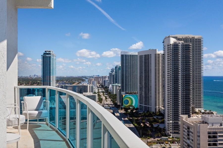 Real Estate Photography - 1945 S Ocean Drive, Unit 2812, Hallandale Beach, FL, 33009 - Balcony