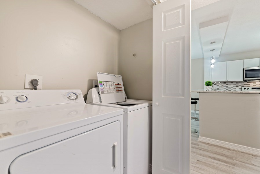 Real Estate Photography - 18771 Stewart Cir, Unit 6, Boca Raton, FL, 33496 - Laundry Room