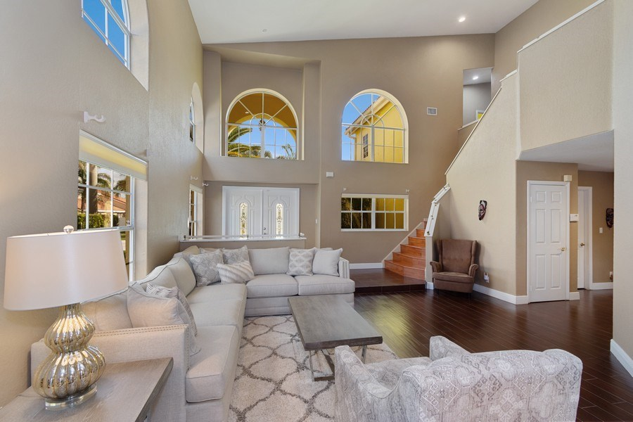 Real Estate Photography - 20211 NW 9TH DRIVE, PEMBROKE PINES, FL, 33029 - Living Room