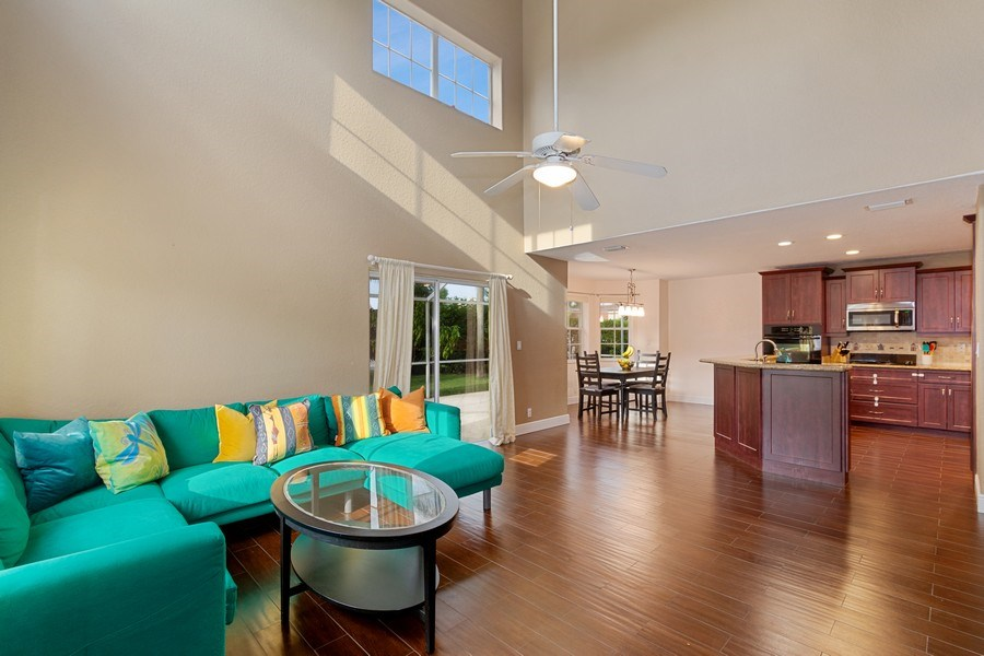 Real Estate Photography - 20211 NW 9TH DRIVE, PEMBROKE PINES, FL, 33029 - Family Room / Kitchen