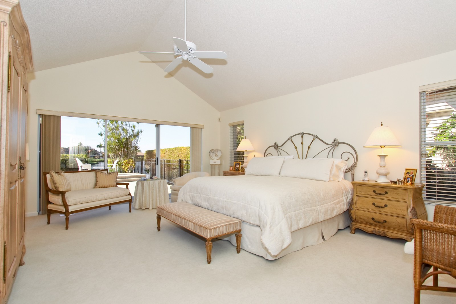 Real Estate Photography - 17799 Heather Ridge, Boca Raton, FL, 33498 - Master Bedroom