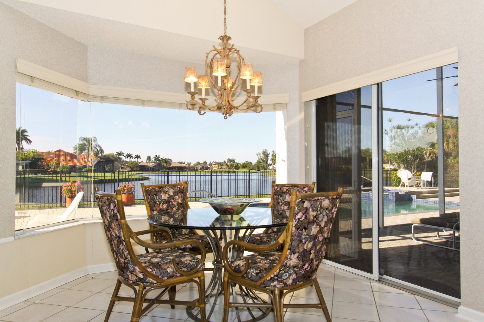 Real Estate Photography - 17799 Heather Ridge, Boca Raton, FL, 33498 - Breakfast Nook