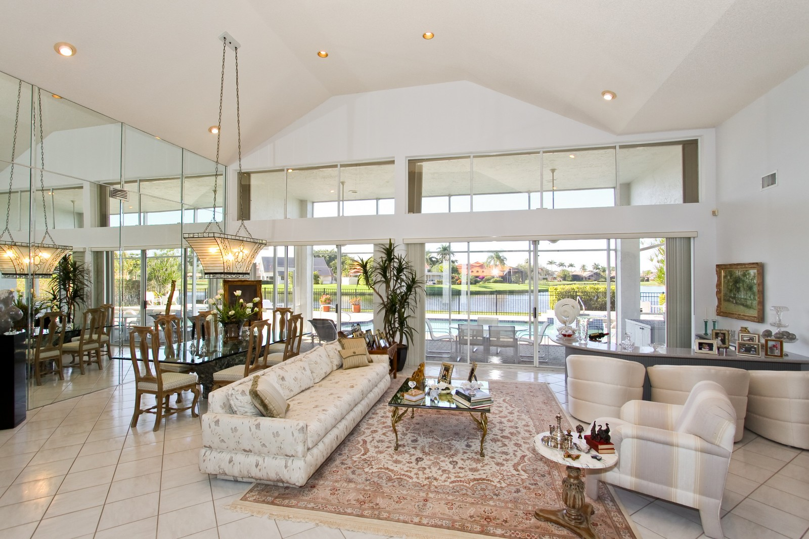 Real Estate Photography - 17799 Heather Ridge, Boca Raton, FL, 33498 - Living Room / Dining Room