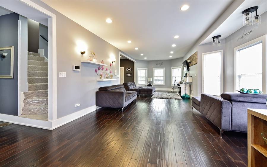 Real Estate Photography - 114 N Latrobe Ave, Chicago, IL, 60644 - Living Room