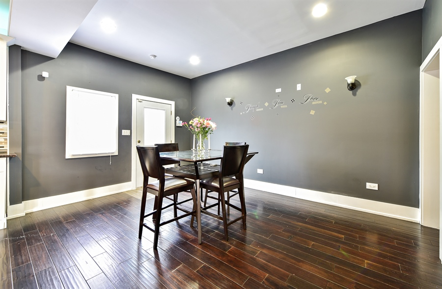 Real Estate Photography - 114 N Latrobe Ave, Chicago, IL, 60644 - Dining Room