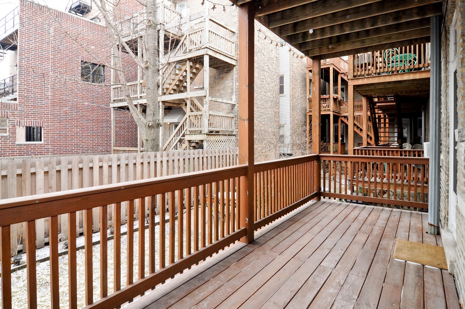 Real Estate Photography - 2548 N Seminary, Apt 1, Chicago, IL, 60614 - Deck