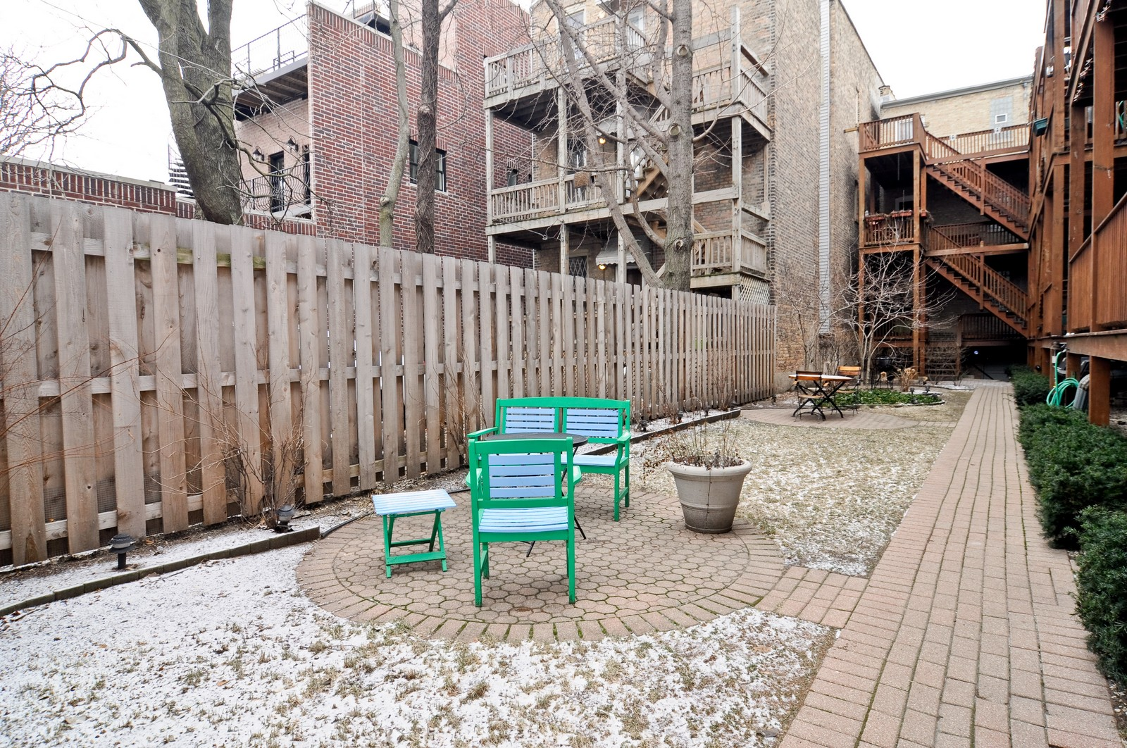 Real Estate Photography - 2548 N Seminary, Apt 1, Chicago, IL, 60614 - Patio