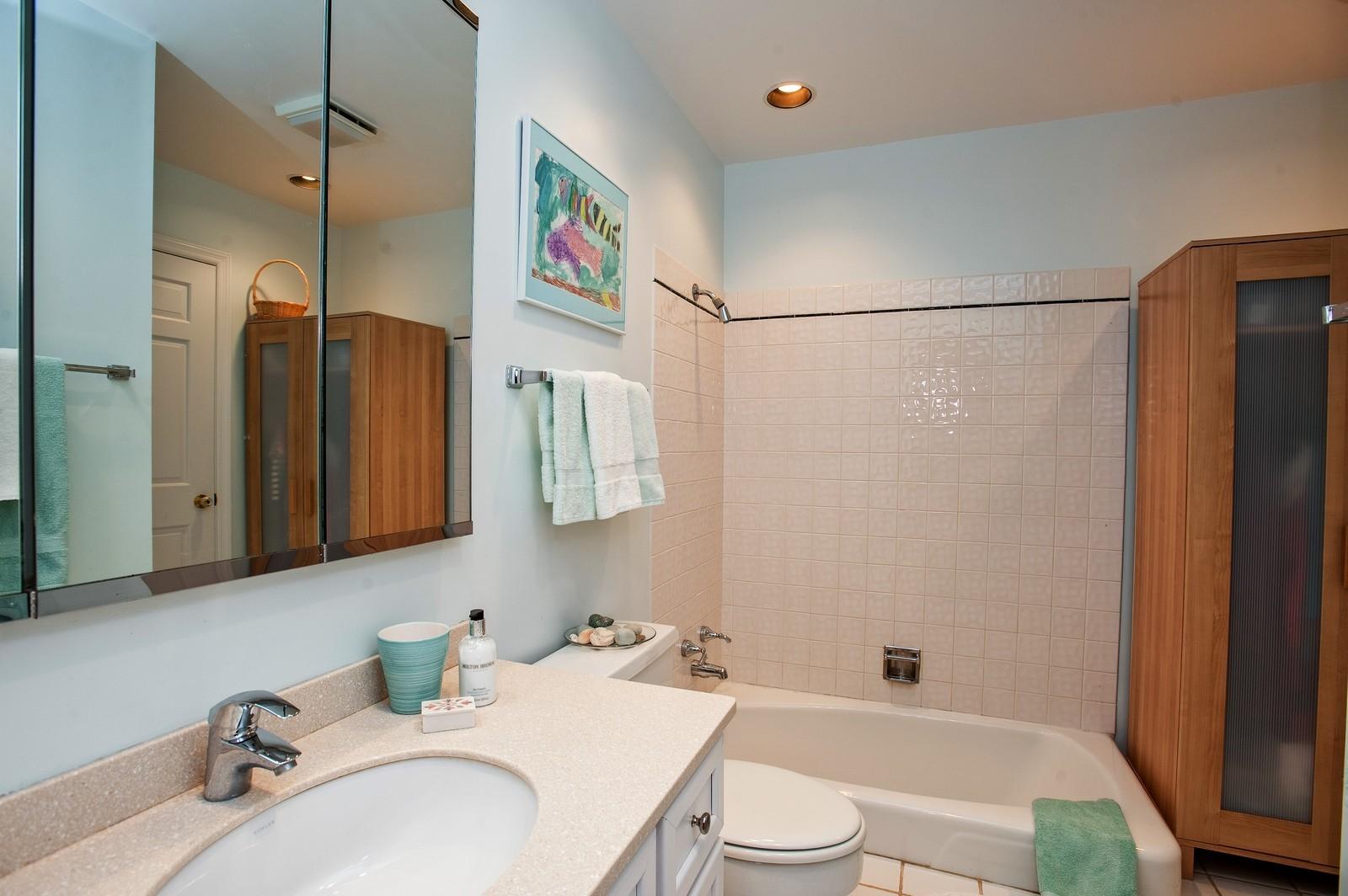 Real Estate Photography - 389 Bristol, Northfield, IL, 60093 - Master Bathroom