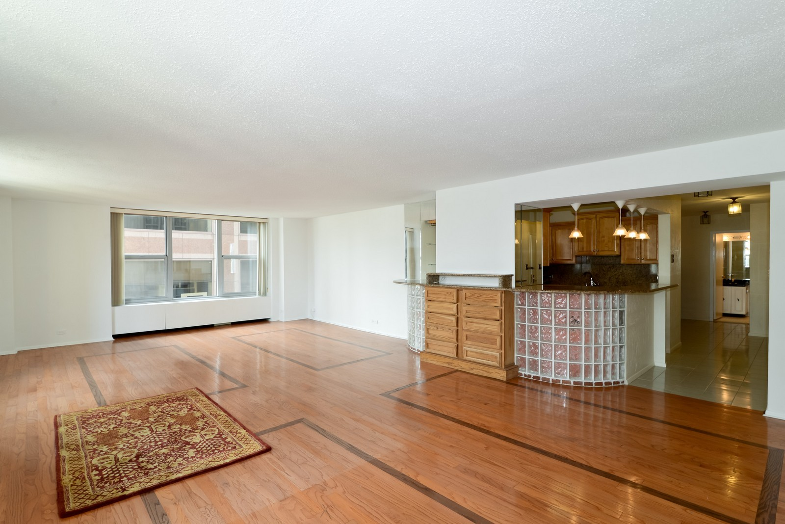 Real Estate Photography - 777 N Michigan Ave, Unit 2200, Chicago, IL, 60611 - Kitchen / Living Room