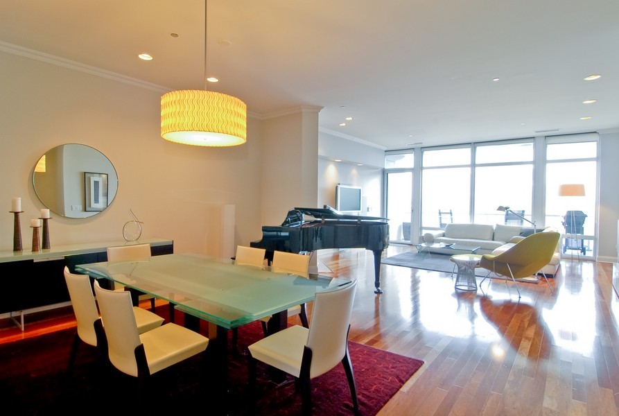 Real Estate Photography - 333 N Canal, Unit 3604, Chicago, IL, 60606 - Dining Room
