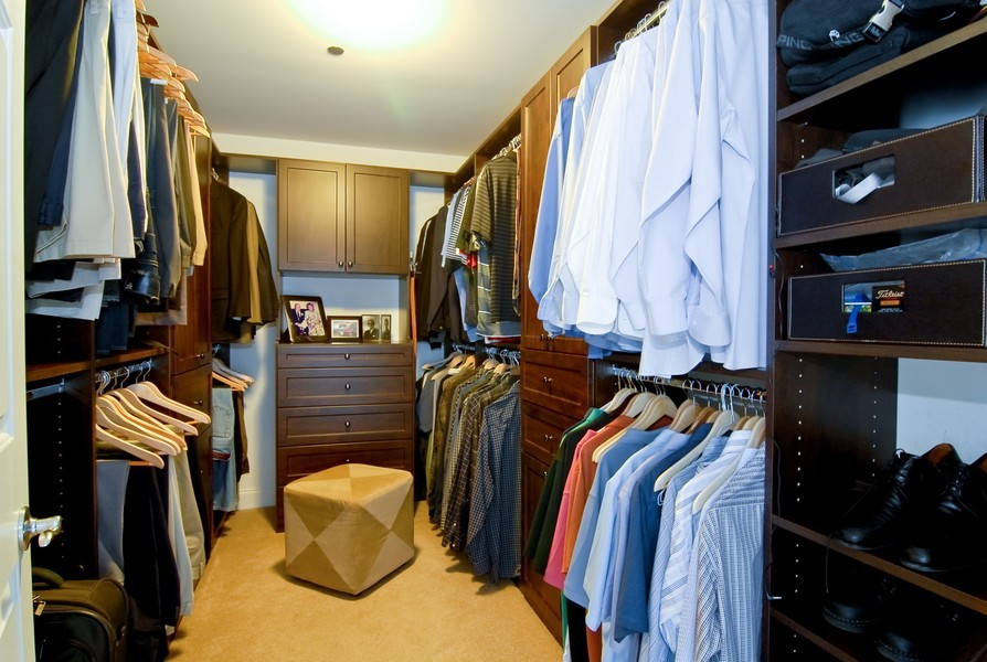 Real Estate Photography - 333 N Canal, Unit 3604, Chicago, IL, 60606 - Master Bedroom Closet