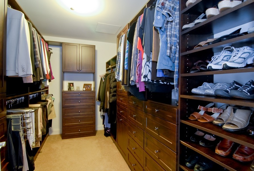 Real Estate Photography - 333 N Canal, Unit 3604, Chicago, IL, 60606 - Closet