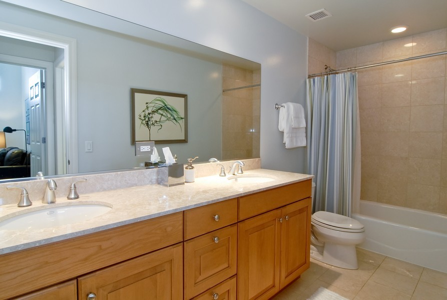 Real Estate Photography - 333 N Canal, Unit 3604, Chicago, IL, 60606 - Bathroom