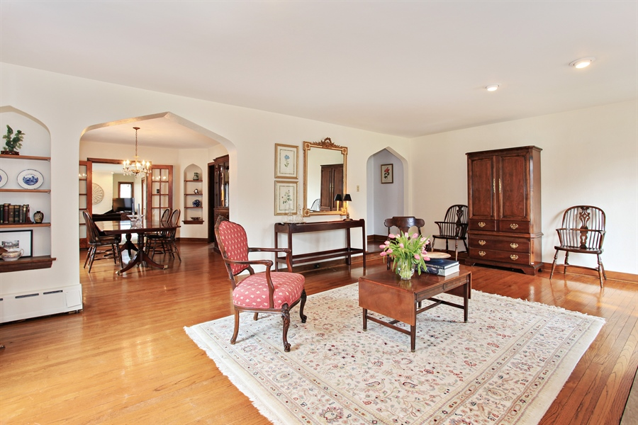 Real Estate Photography - 1417 Scott Ave, Winnetka, IL, 60093 - Living Room / Dining Room