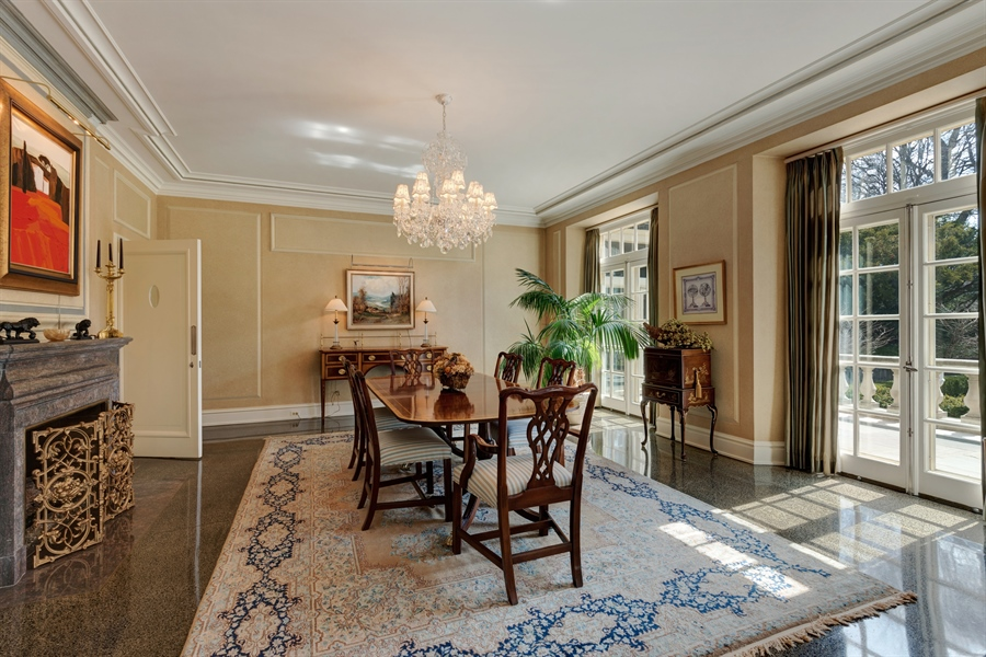 Real Estate Photography - 89 E Deerpath, Lake Forest, IL, 60045 - Dining Room