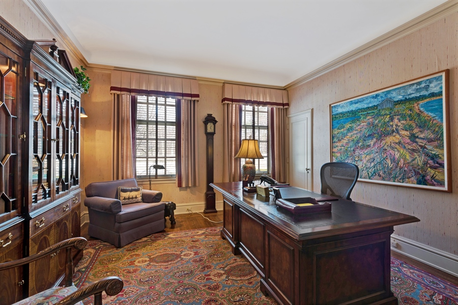 Real Estate Photography - 89 E Deerpath, Lake Forest, IL, 60045 - Office/Library