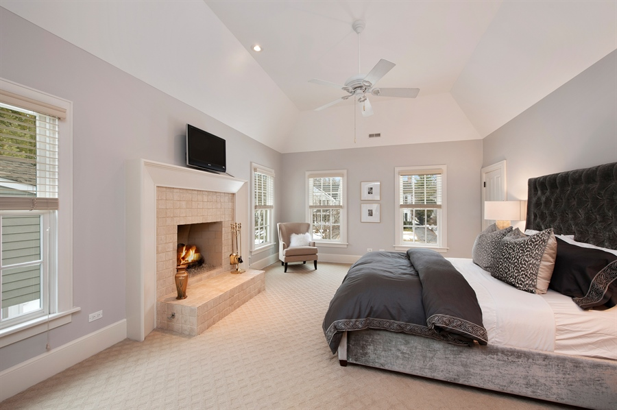 Real Estate Photography - 1182 Asbury, Winnetka, IL, 60093 - Master Bedroom