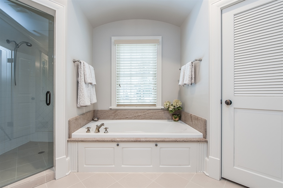 Real Estate Photography - 1182 Asbury, Winnetka, IL, 60093 - Master Bathroom