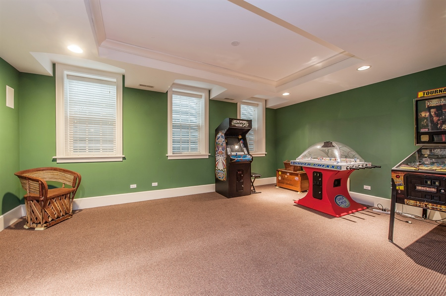Real Estate Photography - 1182 Asbury, Winnetka, IL, 60093 - Gameroom