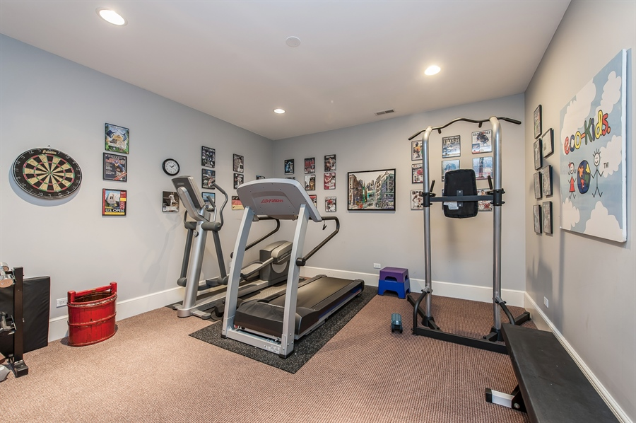 Real Estate Photography - 1182 Asbury, Winnetka, IL, 60093 - Exercise Room