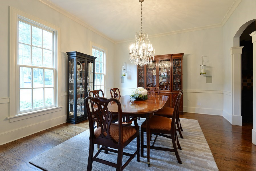 Real Estate Photography - 1182 Asbury, Winnetka, IL, 60093 - Dining Room