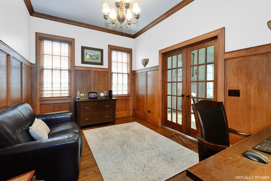 Real Estate Photography - 1182 Asbury, Winnetka, IL, 60093 - Office