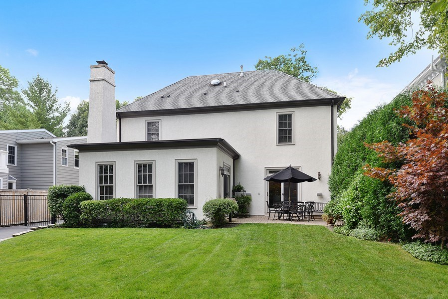 Real Estate Photography - 1182 Asbury, Winnetka, IL, 60093 - Rear View