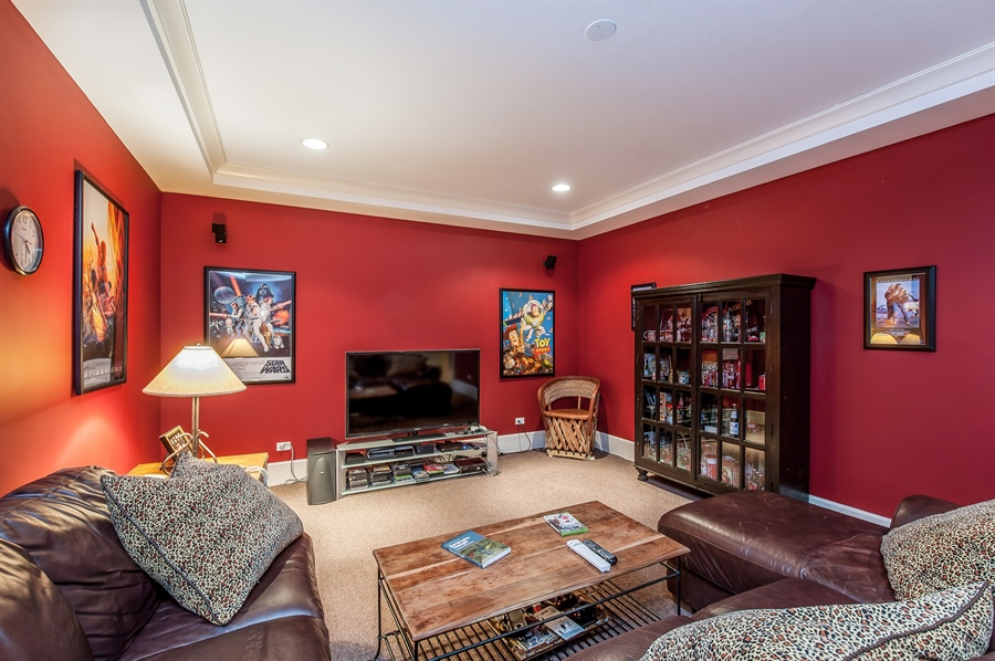 Real Estate Photography - 1182 Asbury, Winnetka, IL, 60093 - Theater