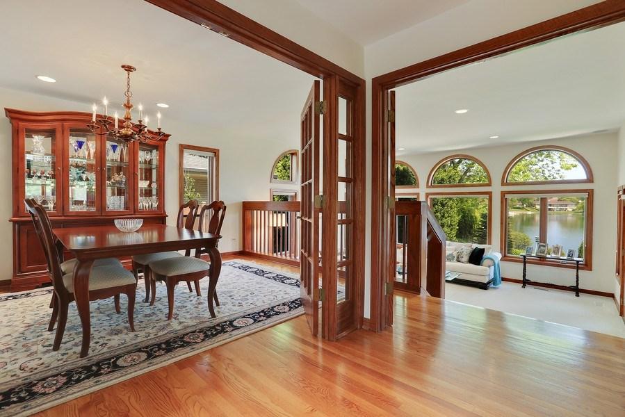 Real Estate Photography - 2090 W Touhy, Park Ridge, IL, 60068 - LR & DR with Lake Views