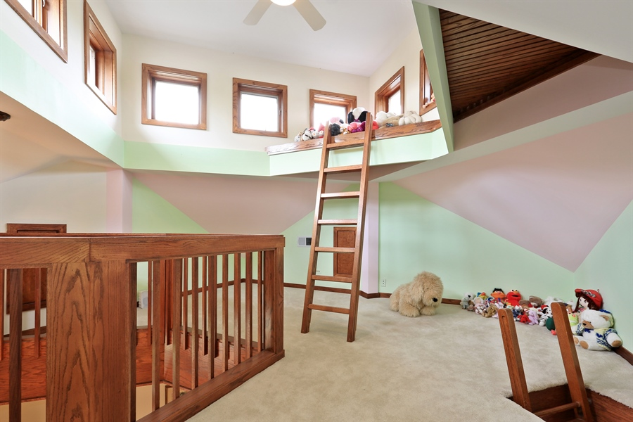Real Estate Photography - 2090 W Touhy, Park Ridge, IL, 60068 - Private 3rd Flr Loft/Play Area From BR