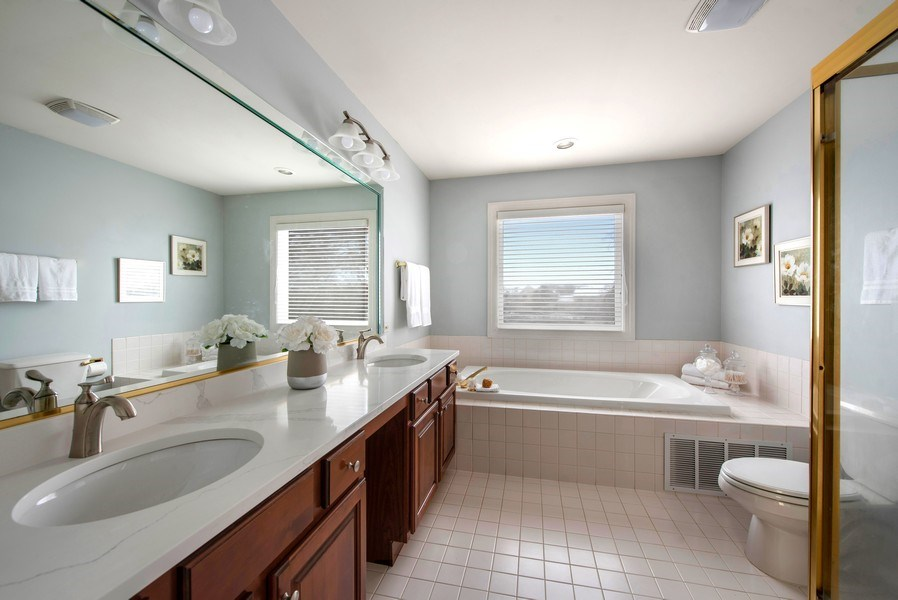 Real Estate Photography - 2126 Chandler Ln, Glenview, IL, 60026 - Master Bathroom