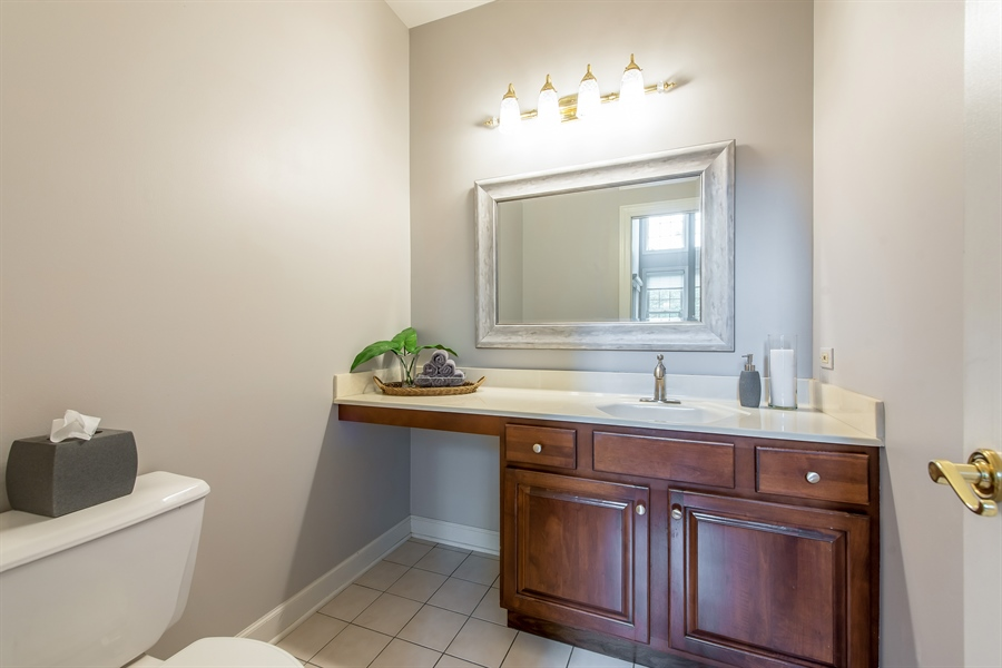Real Estate Photography - 2126 Chandler Ln, Glenview, IL, 60026 - Powder Room