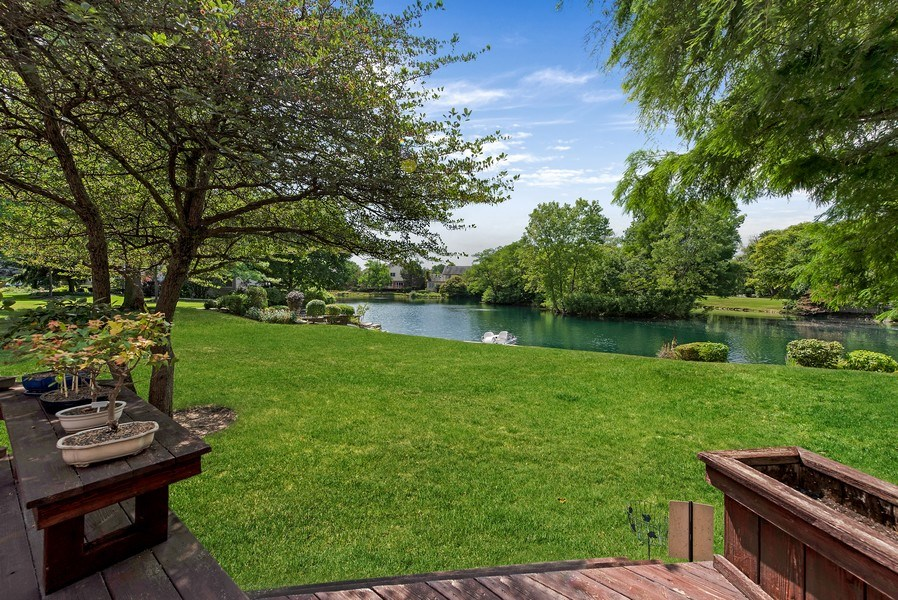 Real Estate Photography - 2126 Chandler Ln, Glenview, IL, 60026 - View of Lake from Deck