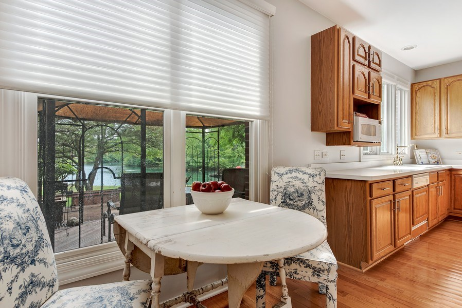 Real Estate Photography - 2126 Chandler Ln, Glenview, IL, 60026 - Breakfast Nook with Lake View