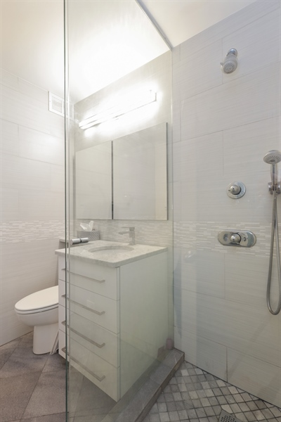 Real Estate Photography - 330 W Diversey, Apt 2308-2309, Chicago, IL, 60657 - Master Bathroom