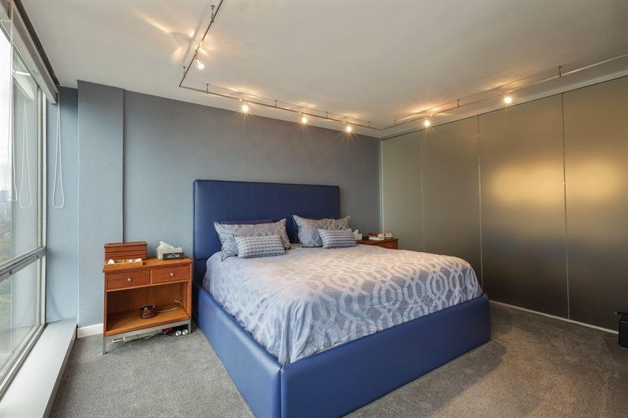 Real Estate Photography - 330 W Diversey, Apt 2308-2309, Chicago, IL, 60657 - Master Bedroom