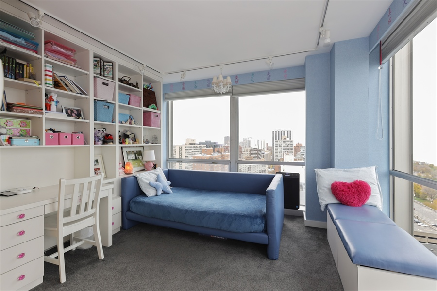 Real Estate Photography - 330 W Diversey, Apt 2308-2309, Chicago, IL, 60657 - 3rd Bedroom