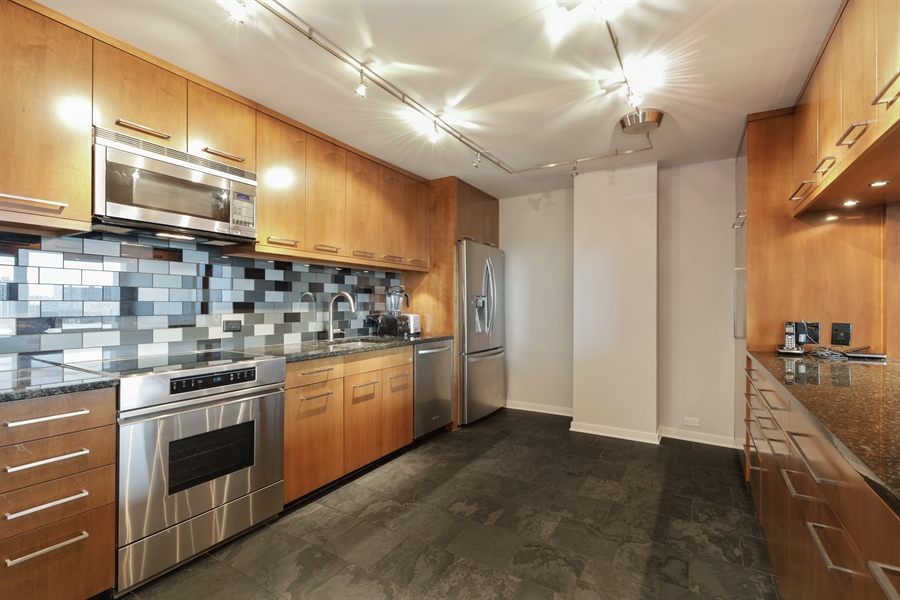 Real Estate Photography - 330 W Diversey, Apt 2308-2309, Chicago, IL, 60657 - Kitchen