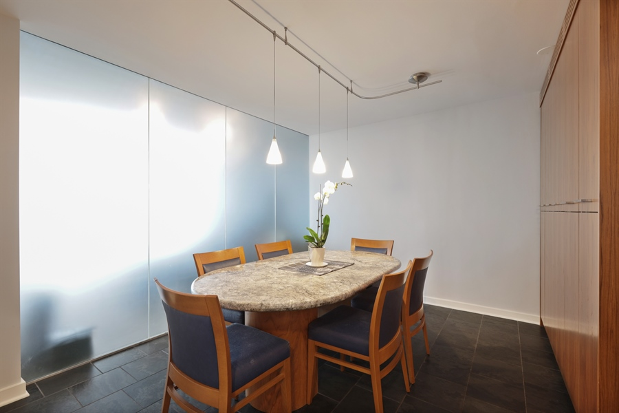 Real Estate Photography - 330 W Diversey, Apt 2308-2309, Chicago, IL, 60657 - Dining Room