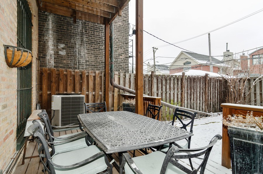 Real Estate Photography - 1914 N. Sheffield Ave., 1, Chicago, IL, 60614 - Deck