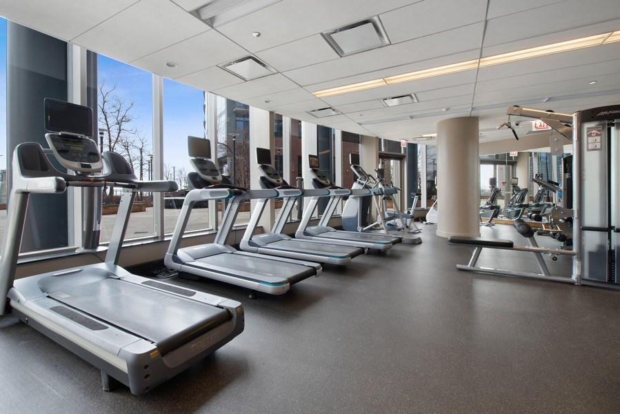 Real Estate Photography - 420 E Waterside Dr, 1502, Chicago, IL, 60601 - Gym
