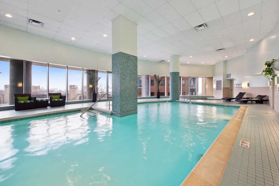 Real Estate Photography - 420 E Waterside Dr, 1502, Chicago, IL, 60601 - Pool