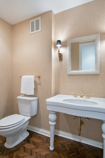 Real Estate Photography - 1040 N Lake Shore Dr, 5A, Chicago, IL, 60611 - Powder Room