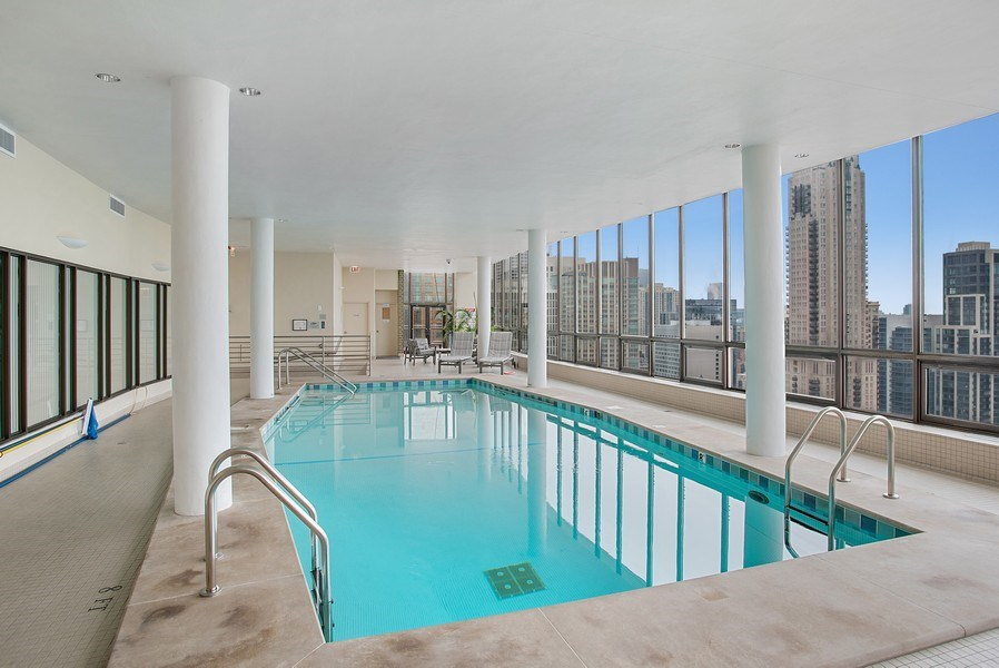 Real Estate Photography - 1040 N Lake Shore Dr, 5A, Chicago, IL, 60611 - Indoor Pool