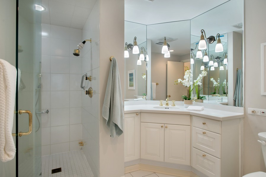 Real Estate Photography - 1040 N Lake Shore Dr, 5A, Chicago, IL, 60611 - Master Bathroom